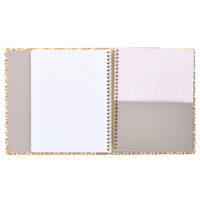 Busy B A5 Spotty Notebook inside view showing sectioned notebook and lined paper