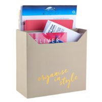 Busy B Filing Box full of letters reads organise in style