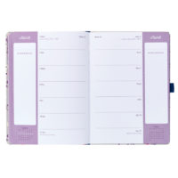 Busy B Floral Academic Diary showing the inside view of the weekly planner pages