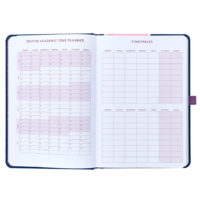Busy B Mid-Year Diary shows timetable and year planner pages