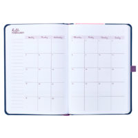 Busy B Mid-Year Diary showing the monthly planner page