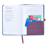 Busy B Mid-Year Diary showing a sectioned page and lined paper