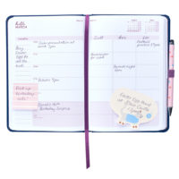 Busy B Mid-Year Diary inside view showing monthly planner page