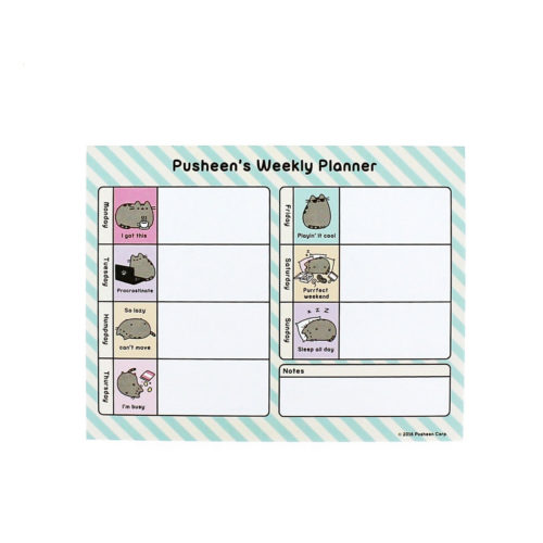 pusheen stationery Desk Pad front view