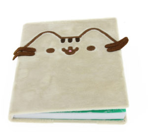 Pusheen Stationery Plush Notebook zoomed front