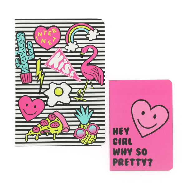 Girl Gang Exercise Book Set front view of 2 exercise books