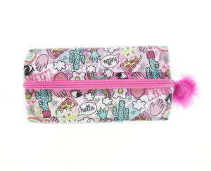 Girl Gang Large Pencil Case top view