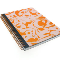 front view of wiro notebook with gold foil geometric design