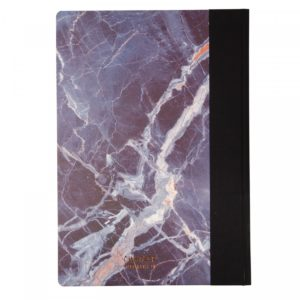 back view of Ohh Deer Marble Quarterbound Notebook A4