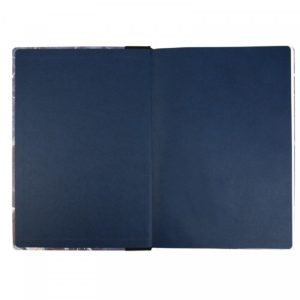Ohh Deer Marble Quarterbound Notebook A4 inside showing blue covering
