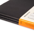 Moleskine Black Cahier Notebooks pack of three big view