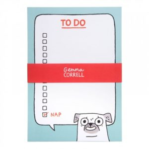 front view of Ohh Deer Pug To-Do Notepad