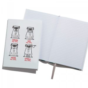 Ohh Deer 'Smell No Evil' A5 Notebook front view