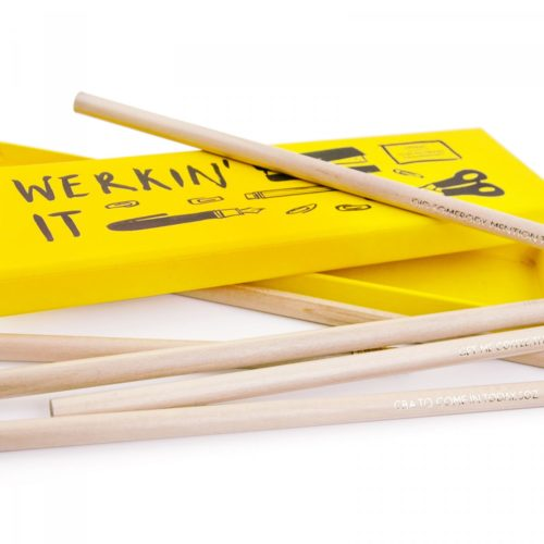 lifestyle image of Ohh Deer 'Werkin' It' Pencil Set