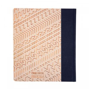 back view of the Ohh Deer Copper Pattern A5ish Quarterbound Notebook