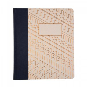 main front image Ohh Deer Copper Pattern A5ish Quarterbound Notebook