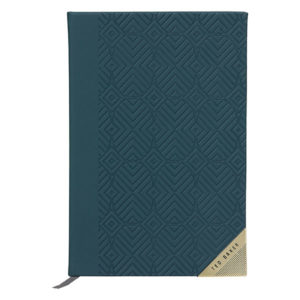 Ted Baker A5 Notebook Teal Front
