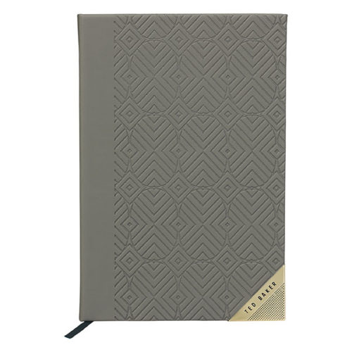 Ted Baker A5 Notebook Ash Grey Front