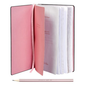 Ted Baker A5 Notebook Rose Quartz Inside