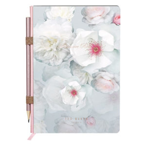 Ted Baker A5 Noteook with Pencil Chelsea Border Front