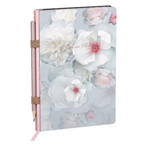 Ted Baker A5 Noteook with Pencil Chelsea Border Front Lifestyle