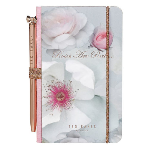 Ted Baker Mini Notebook & Pen Chelsea Border Front