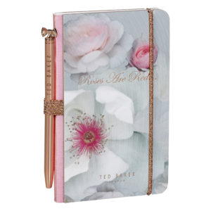 Ted Baker Mini Notebook & Pen Chelsea Border Front Lifestyle