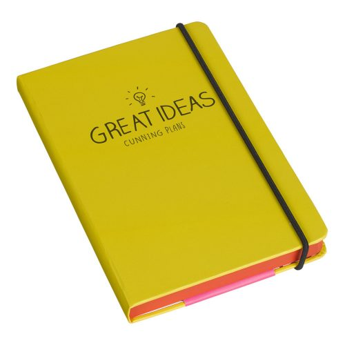 Happy Jackson A5 Notebook 'Great Ideas, Cunning Plans' - Angled
