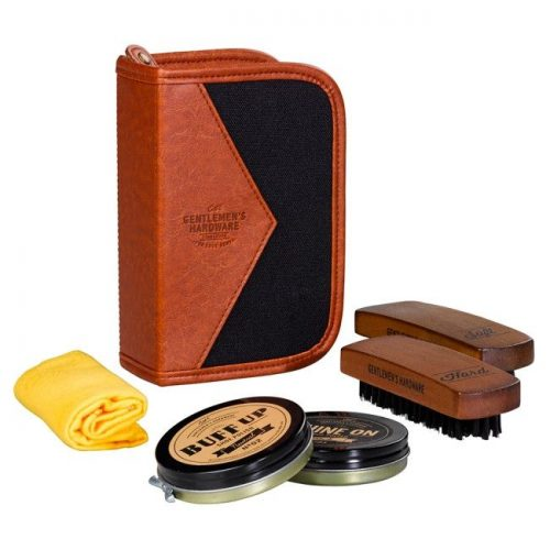 Gentlemen's Hardware Shoe Shine Kit - Angled
