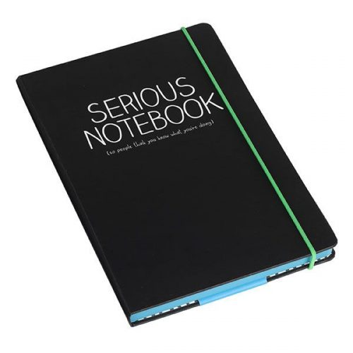 Happy Jackson A5 Notebook 'Serious'