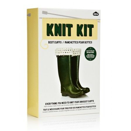 NPW Boot Cuffs Knit Kit - With Packaging