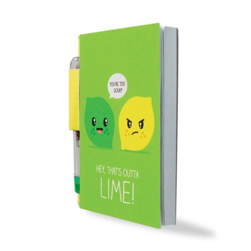 Sketch & Sniff Notebook - Lemon & Lime - Angled
