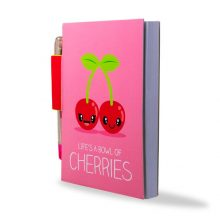 Sketch & Sniff Notebook With Pen - Cherry - Angled