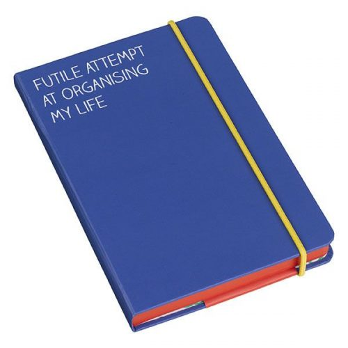 "Blue A6 Notebook: ""Futile Attempt"""