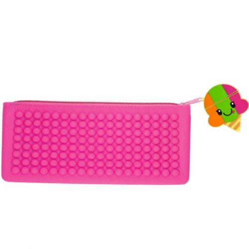 Pink Smencil Buddy Pencil Case - Rainbow Sherbet - Front