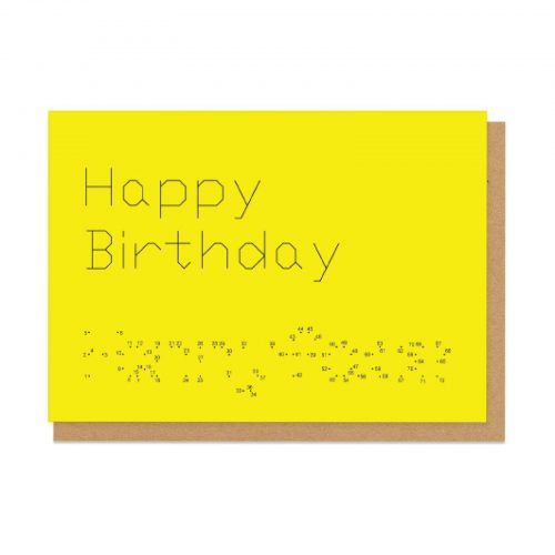 Dot to Dot Fannyface Birthday Greeting Card