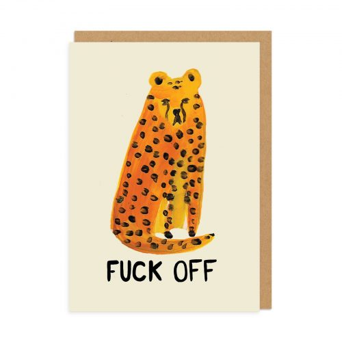 F#ck Off Cheetah Greeting Card