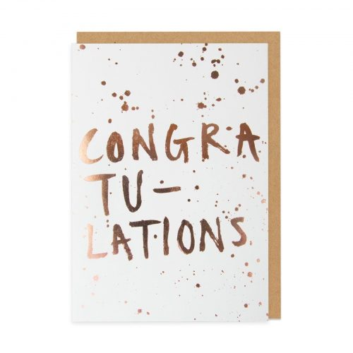 Congratulations Foil Greeting Card - Front