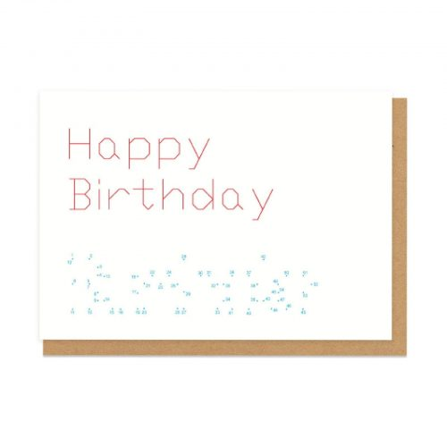 Dot to Dot Bumhole Birthday Greeting Card