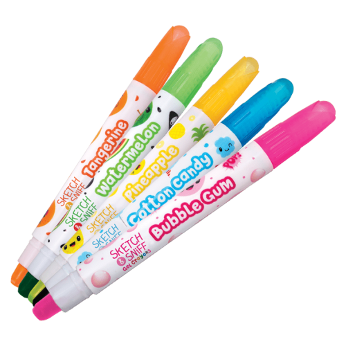 Sketch & Sniff Scented Gel Crayons 5 pack - Out of Packaging