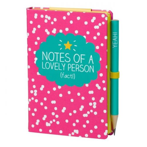 Happy Jackson A7 Mini Notepad with Pencil - Angled