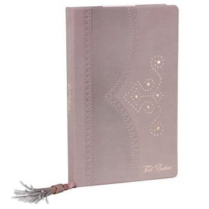 Ted Baker A5 Brogue Notebook - Thistle - Angled