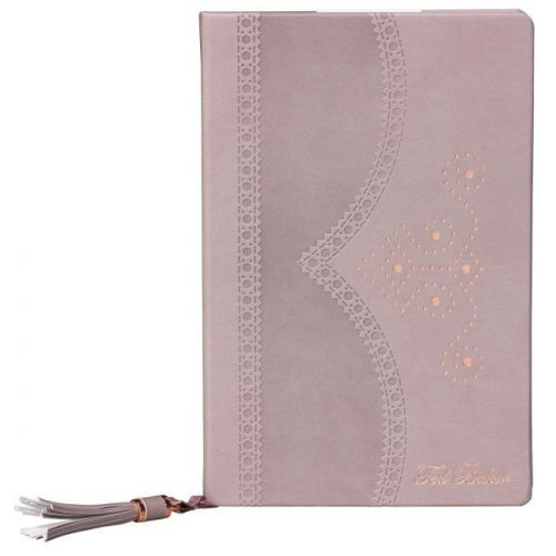 Ted Baker A5 Brogue Notebook - Thistle - Front Cover