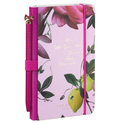 Ted Baker 'Citrus Bloom' Mini Notebook and Pen - Angled