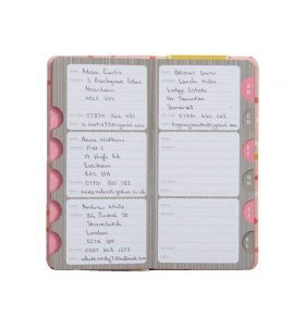 Busy B Slim Address Book - Inside Pages