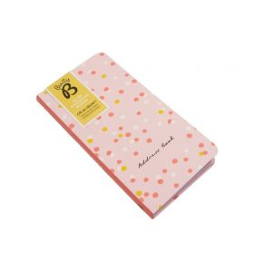 Busy B Slim Address Book with Label - Angled