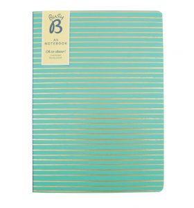 Green A5 Notebook by BusyB - Front Cover
