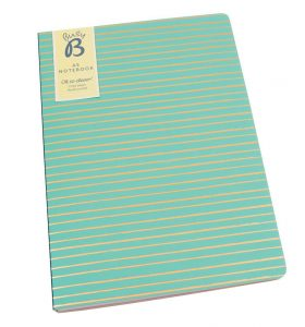 Green A5 Notebook by BusyB - Packshot