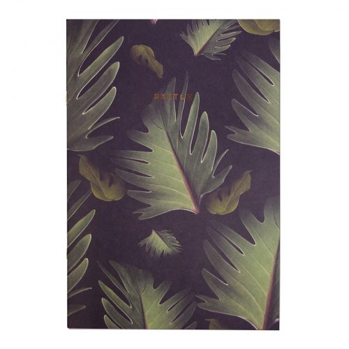 Dark Palm A4ish Notebook