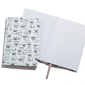 Pug Positions A5 Notebook